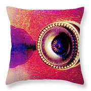 Digital Cabinet Handle Throw Pillow