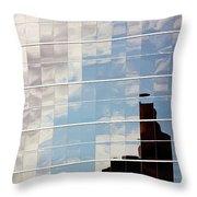 Digital Clouds Throw Pillow
