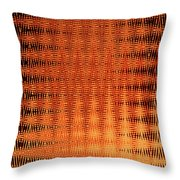 Digital Copper Plate Abstract Throw Pillow