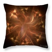 Digital Daisy Gold Throw Pillow