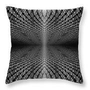 Digital Divide Vortex Throw Pillow