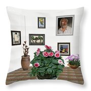 Digital Exhibartition _ Plant 12 Throw Pillow