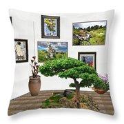 Digital Exhibition _ Bonsai 22 Throw Pillow