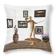 Digital Exhibition _ Guard Of The Exhibition 3 Throw Pillow