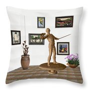 Digital Exhibition _ Guard Of The Exhibition 4 Throw Pillow