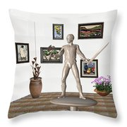 Digital Exhibition _ Guard Of The Exhibition1 Throw Pillow