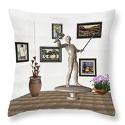Digital Exhibition _ Guard Of The Exhibition2 Throw Pillow
