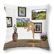 Digital Exhibition _ Statue Of  Erotic Acrobatics  2 Throw Pillow