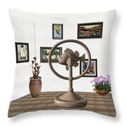 digital exhibition _ Statue of fish 4 Throw Pillow