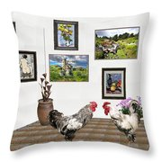 Digital Exhibition _ The World Is Narrow For Two Throw Pillow