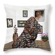 digital exhibition _Modern Statue of scrap Throw Pillow