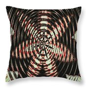 Digital Fan Abstract Throw Pillow