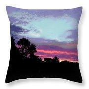 Digital Fine Art Work Sunrise In Violet Gulf Coast Florida Throw Pillow