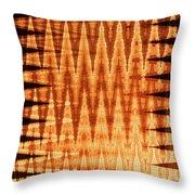 Digital Fire Throw Pillow