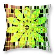 Digital Floral Throw Pillow