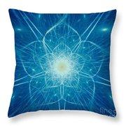 Digital Flower Throw Pillow by Yali Shi