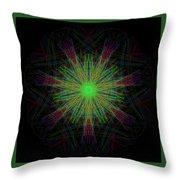 Digital Leaf Throw Pillow