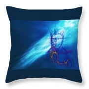 Digital Liquid Throw Pillow