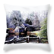 Digital Mill Throw Pillow