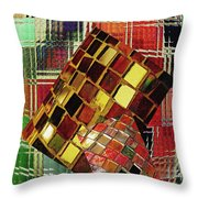Digital Mosaic Throw Pillow