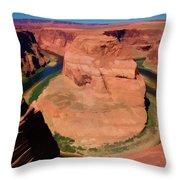 Digital Paint Horseshoe Bend  Throw Pillow