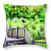 Digital Paint Landscape Jefferson Island  Throw Pillow