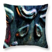 Digital Painting Abstract Blue 2364 Dp_2 Throw Pillow