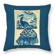 Digital Peacock 1 Throw Pillow