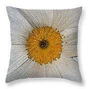 Digital Poppy Throw Pillow