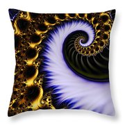 Digital Wave Throw Pillow