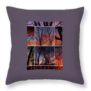 Digital Winter Trees Throw Pillow