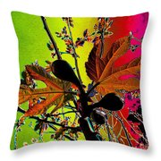 Figtree Leaves 4 Throw Pillow