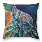 Peacock Dignified Throw Pillow