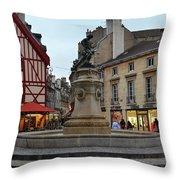 Dijon Fountain Throw Pillow