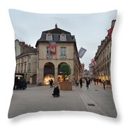Dijon Street Corner Throw Pillow