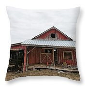 Dilapidated Old Barn Throw Pillow