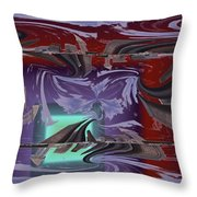 Dilemma At High Tide Throw Pillow