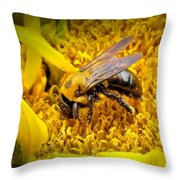 Diligent Pollinating Work Throw Pillow