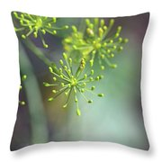 Dill Abstract On Mint Green And Plum Throw Pillow