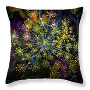 Dill Going To Seed Throw Pillow