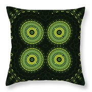 Dill Weed Flower Wheels Throw Pillow