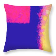 Dimensional Depth Of Squares  Throw Pillow