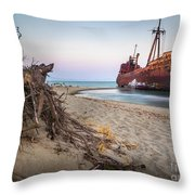 Dimitrios Shipwreck Throw Pillow