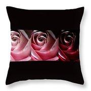Dimming Rose Throw Pillow