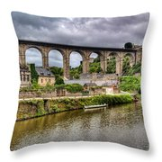 Dinan Port Brittany France Throw Pillow