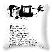 Ding, Dong, Bell Throw Pillow by Granger