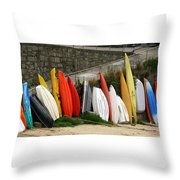 Dinghy Conga Line Throw Pillow