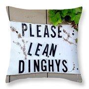Dinghy Do's Throw Pillow