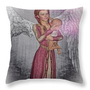 Diniel - Angel Who Protects Infants Throw Pillow
