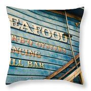 Dining And Dancing Throw Pillow